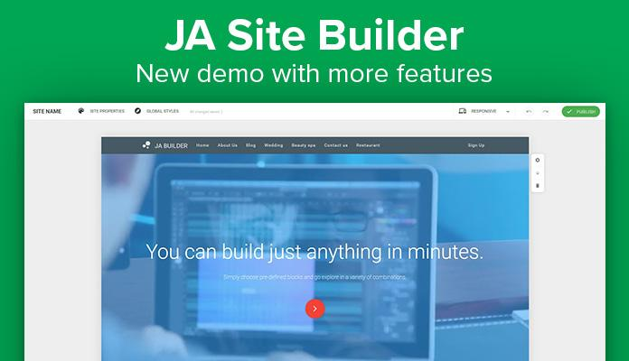 ja site builder demo