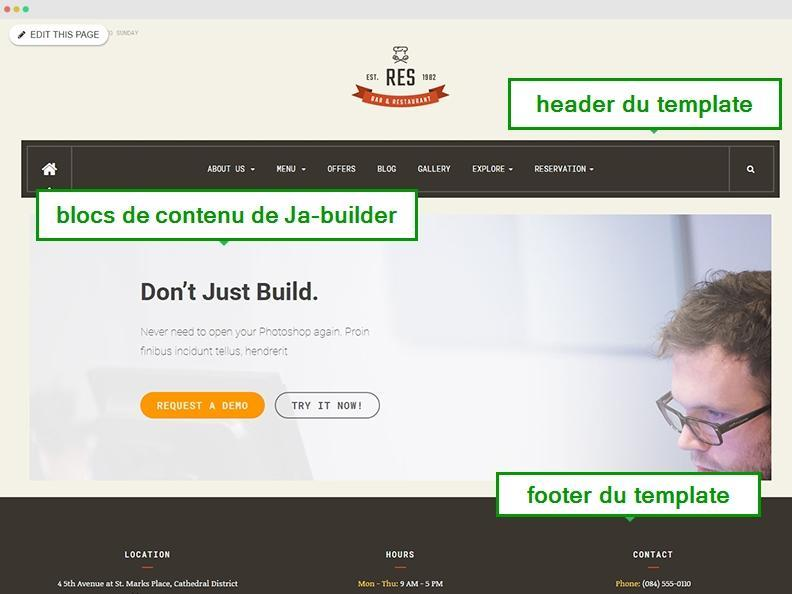 published page builder