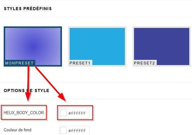 options preset1